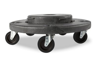 Trash Can Dolly Heavy-duty Plastic 5 Casters , Gray