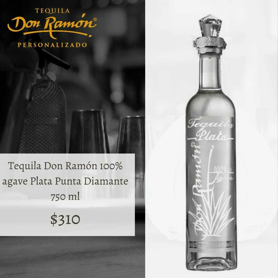 Tequila Don Ramon Plata Punta Diamante 750 ml Personalizado