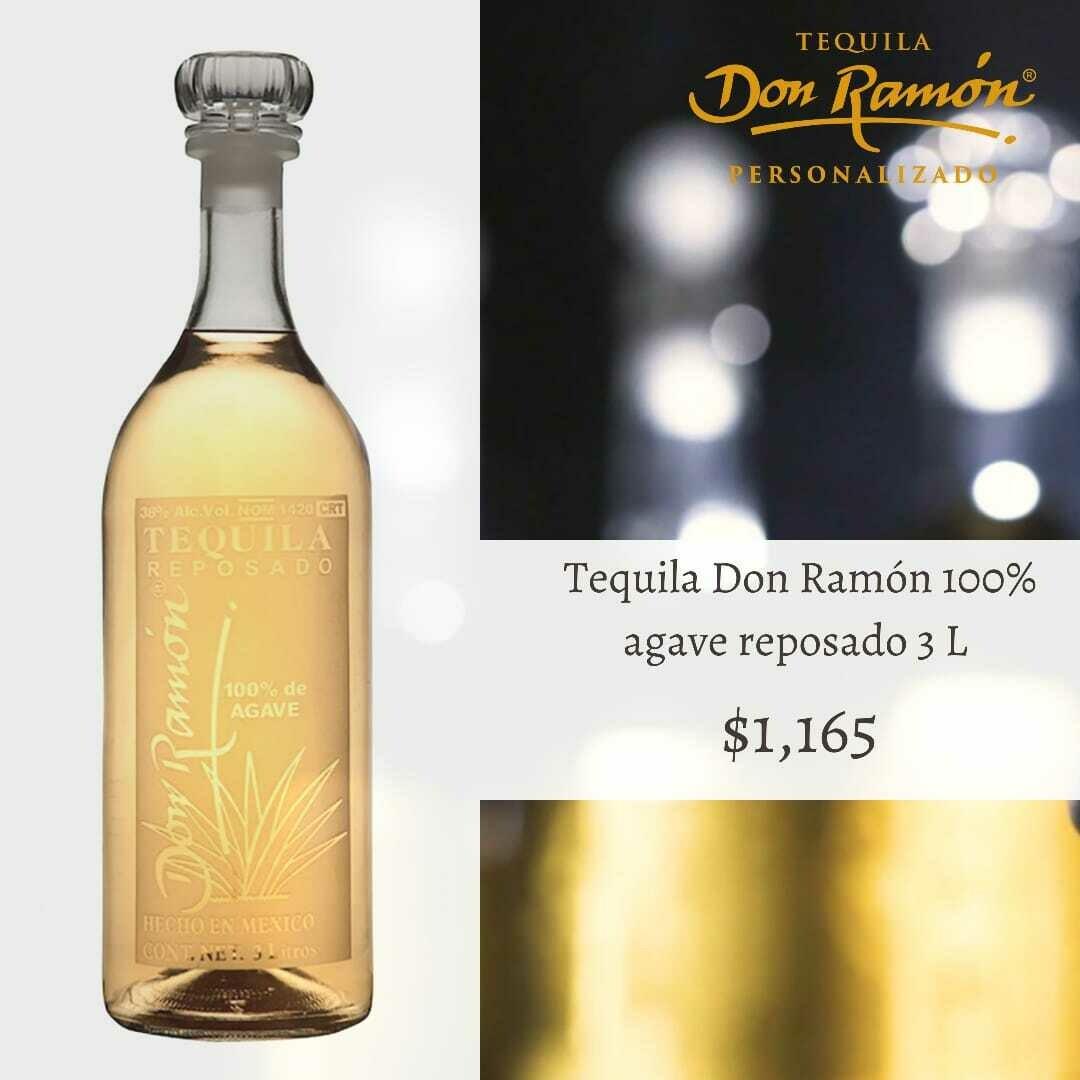 Tequila Don Ramon reposado 3 lts Personalizado