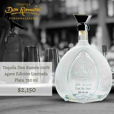 Tequila Don Ramon Edición Limitada Plata 750 ml Personalizado