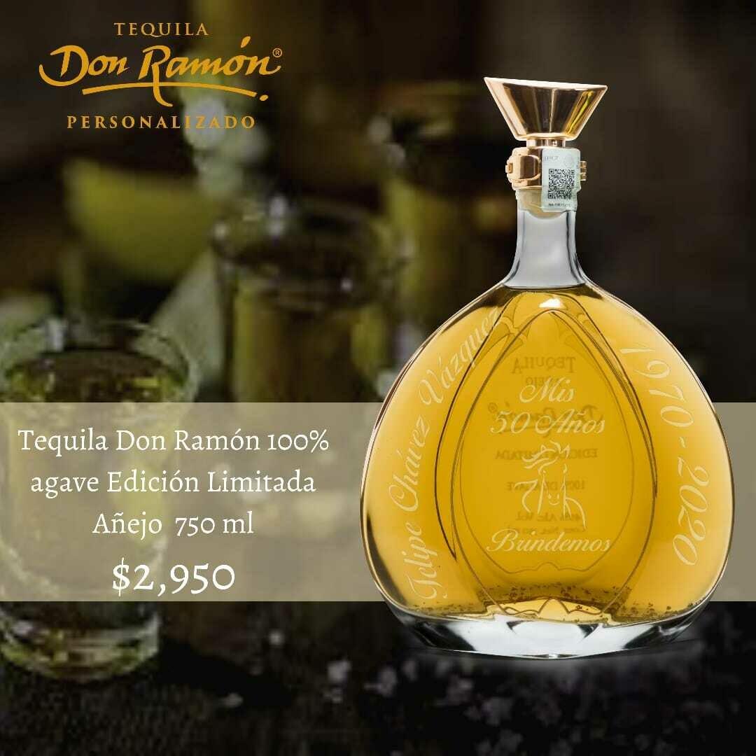 Tequila Don Ramon Plata Edición Limitada Añejo 750 ml Personalizado