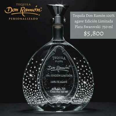 Tequila Don Ramon Edición Limitada Plata Swarovsky 750 ml Personalizado