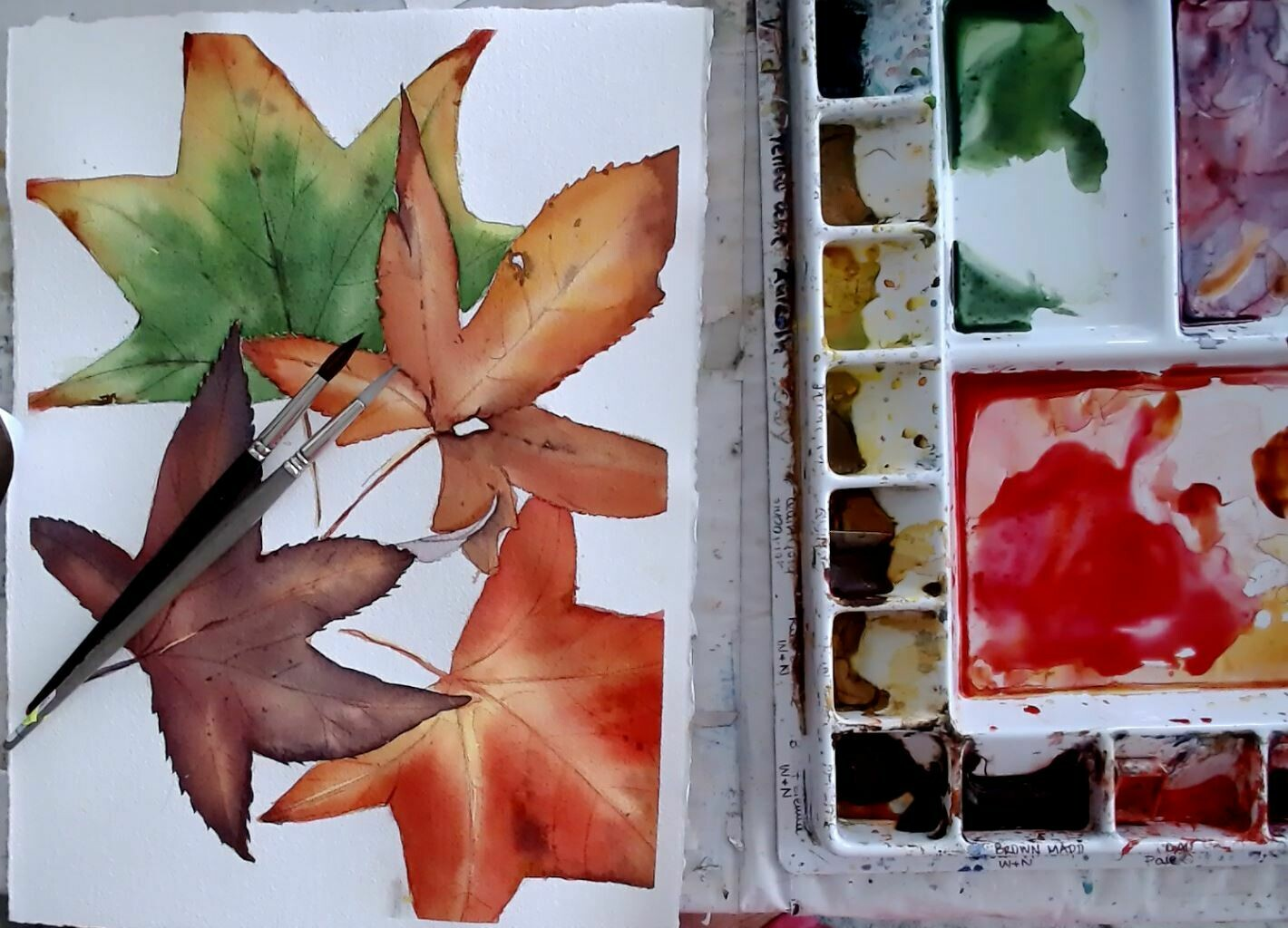 COLOURS OF AUTUMN - Video tutorial - 2 hrs - MEDIUM / HARD (but fun!)