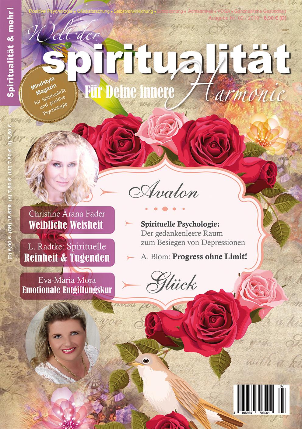"""Aktuelle Ausgabe der """"Welt der Spiritualität"""", Nr. 02 / 2019"""