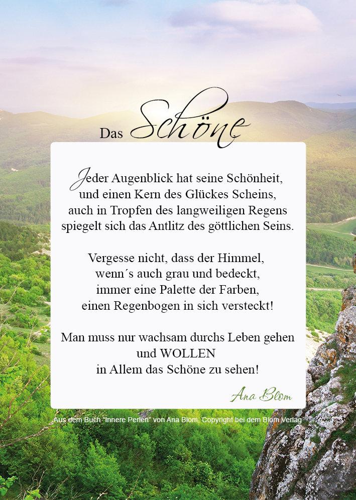 """Motivationsposter, Poesie: """"Das Schöne"""" von Ana Blom"""