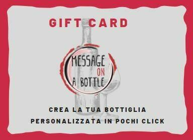 Gift card Message on a bottle Crea la tua bottiglia personalizzata in pochi clic