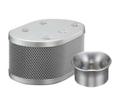 SILVER CLASSIC STYLE OVAL MESH AIR CLEANER  FOR KADRON