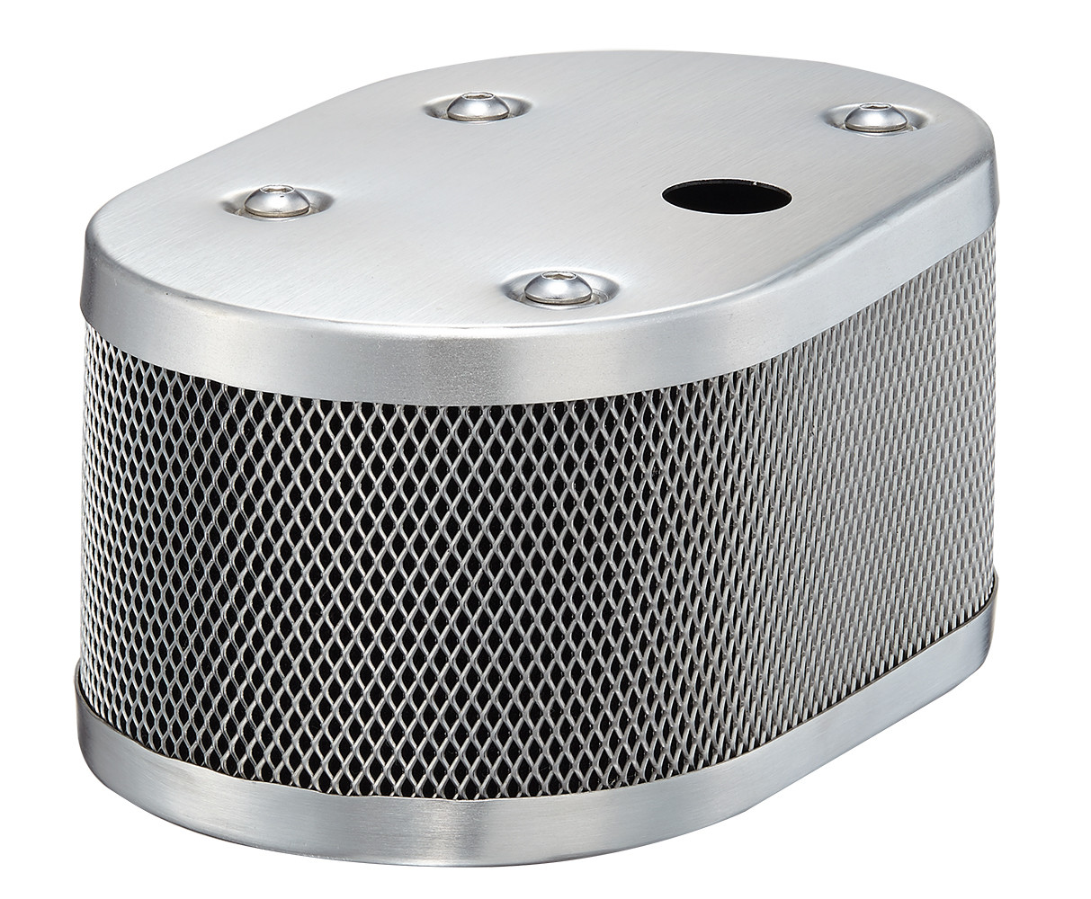 CLASSIC STYLE OVAL MESH AIR CLEANER HOUSING + SPR-1 FOR IDF AND DELLORTO WITH 20MM HOLE