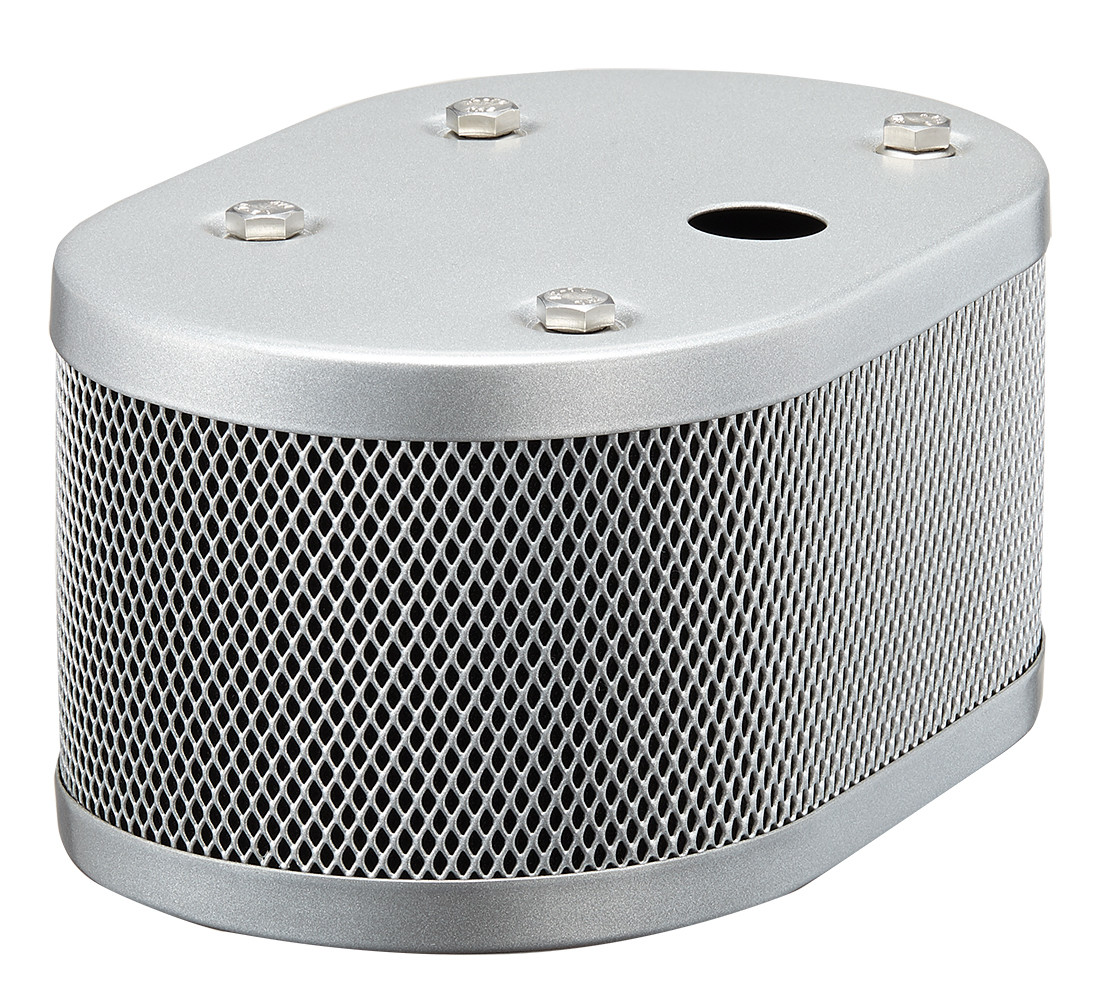 WEBER AIR FILTER HOUSING SILVER POWDER COATED + SPR-1 FOR IDF AND DRLA CARBS 20MM HOLE