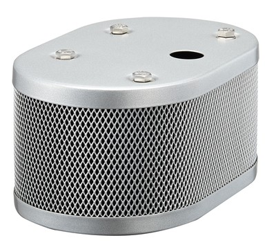 WEBER AIR FILTER SILVER POWDER COATED FOR IDF AND DRLA CARBS 20MM HOLE