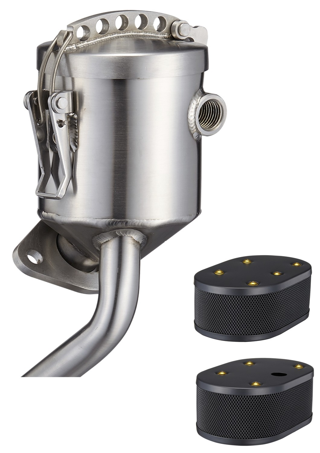 PRO SPORTS OIL FILLER ONE AIR VENT WITH BLACK TWIN WEBER IDF AIR FILTER FOR TYPE 1 ENGINE 40HP~1600