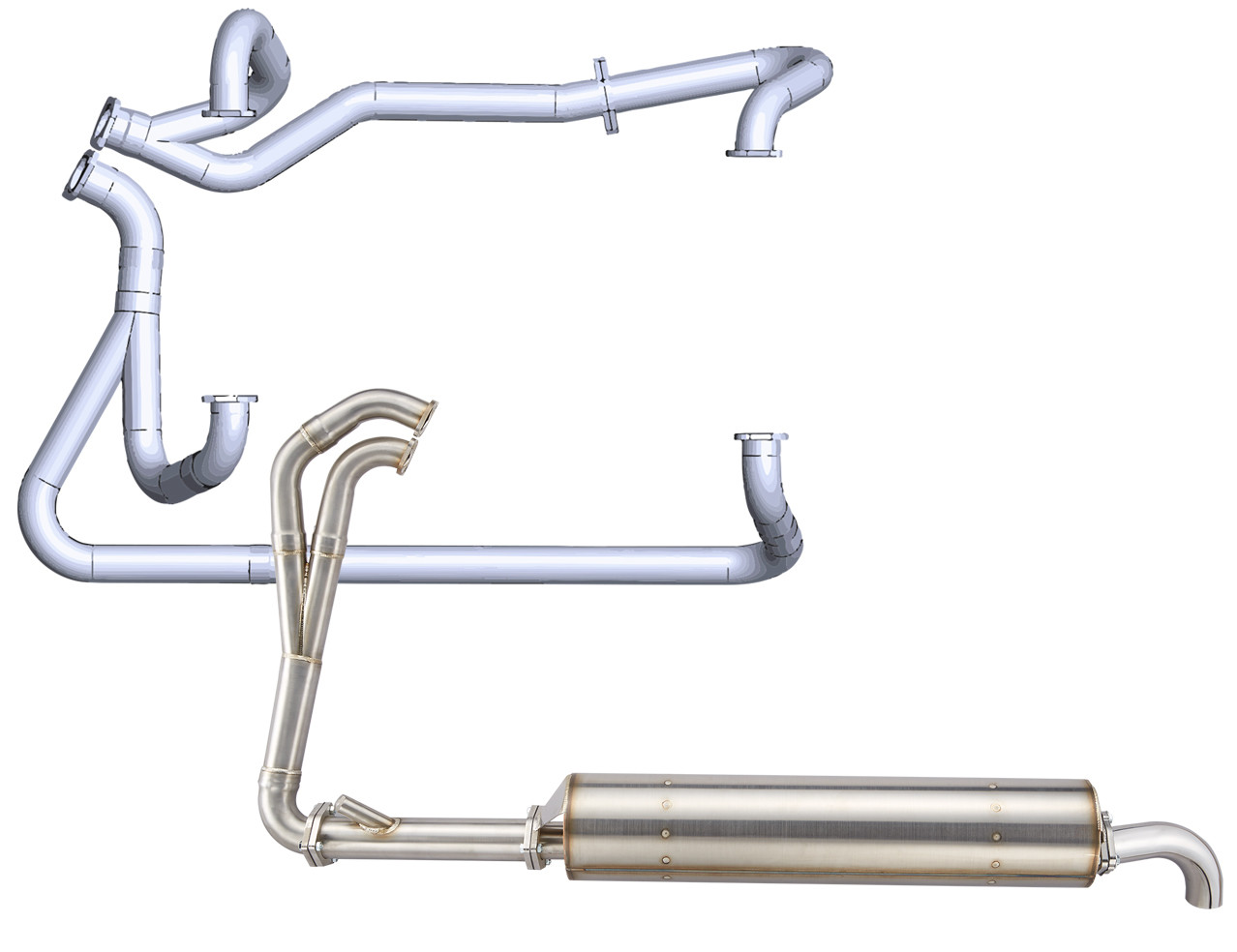 VW T3 2.1L POWER EXHAUST SYSTEM, FROM HEADER TO TAIL PIPE (Compatible with 1.9L model also)