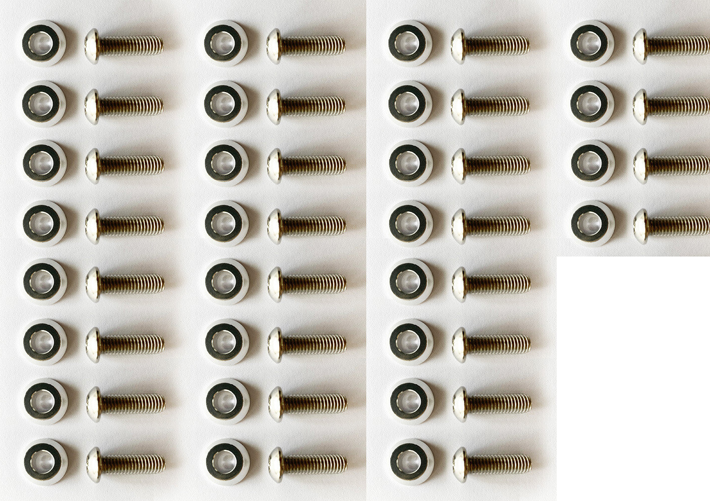 silver washers with 35mm M8 Screws //36PC
