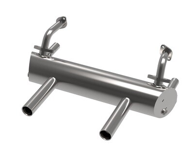 TYPE 1 ENGINE HIGH PERFORMANCE SPORT MUFFLER FOR 25HP, 36HP 50/35 (With Apron Cut-Outs)