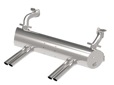 KARMANN GHIA ABARTH EXHAUST SYSTEM FOR 1300 ~ 1600C.C.,APRON WITH CUT OUTS