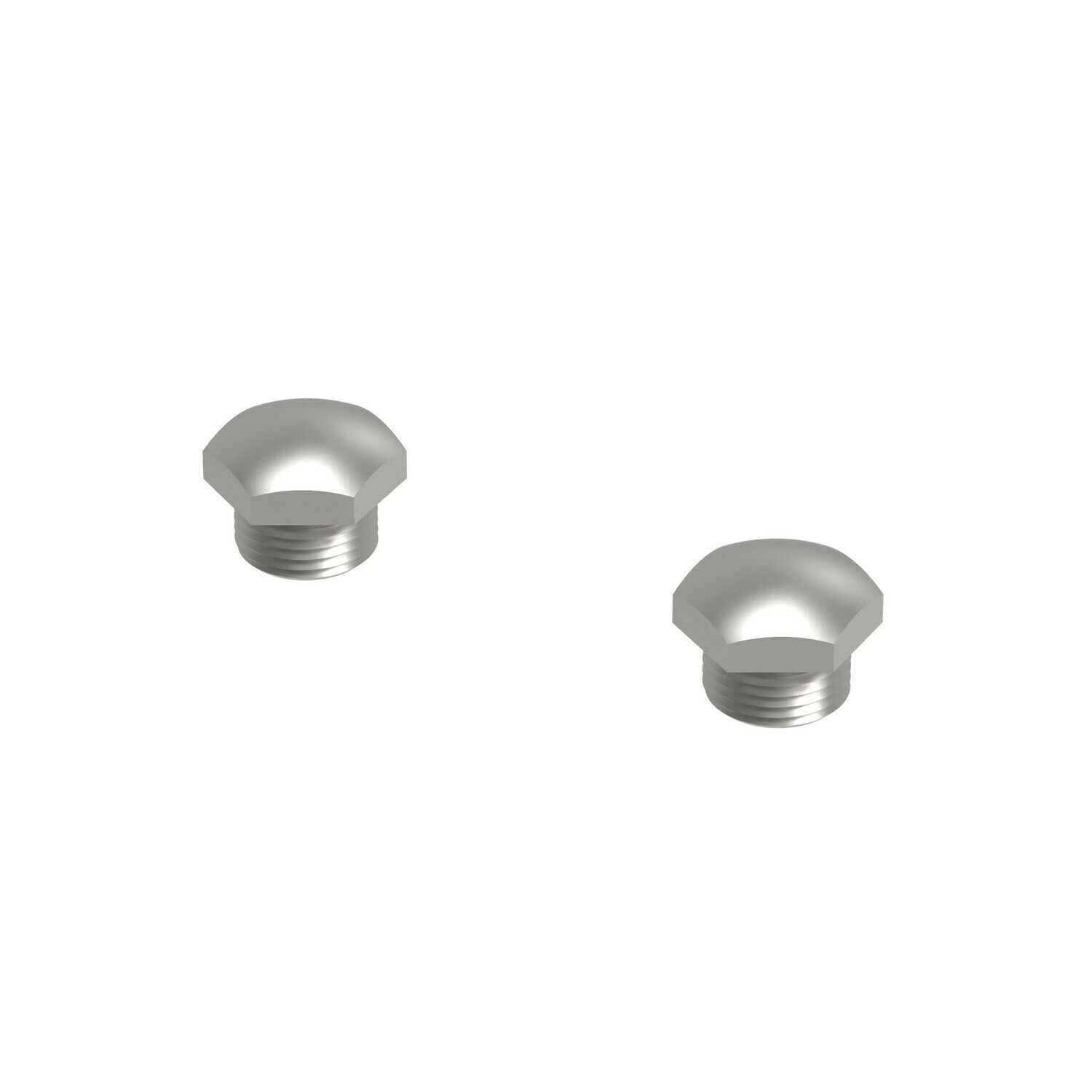 ONE PAIR OF STAINLESS STEEL M18X1.5 O2 SENSOR PLUGS