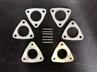 TWO OF 10MM THICK STAINLESS STEEL SPACERS FOR STROKER ENGINE. INCLUDE 2 EXTRA GASKETS