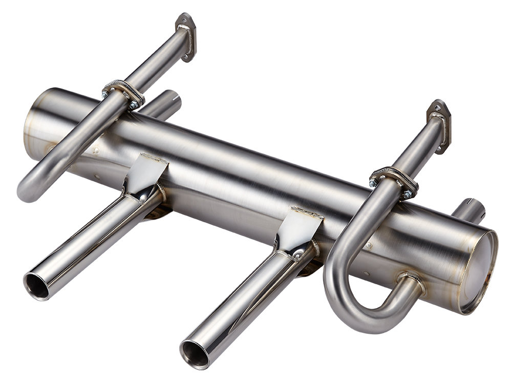 PORSCHE 356 SUPERFLOW EXHAUST SYSTEM, TWIN PIPES.