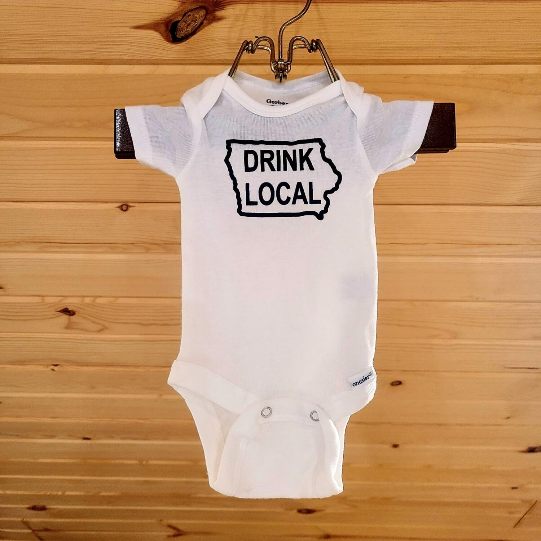 Iowa 'Drink Local' Infant Onesie - size NEWBORN