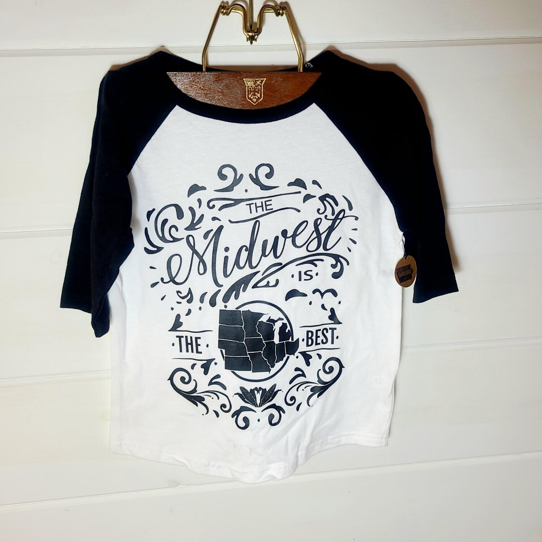 Midwest Toddler Raglan | size 4T