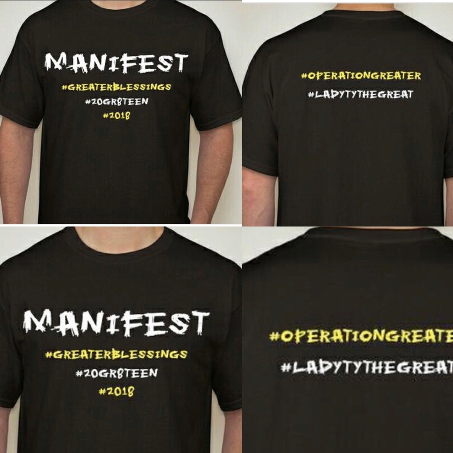 Manifest T Shirt #GreaterBlessing Special Edition