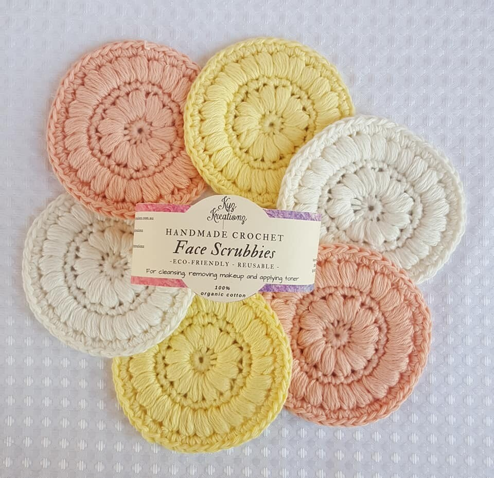 Made to Order | Crochet Face Scrubbies (pack of 6) - Sunshine Delight