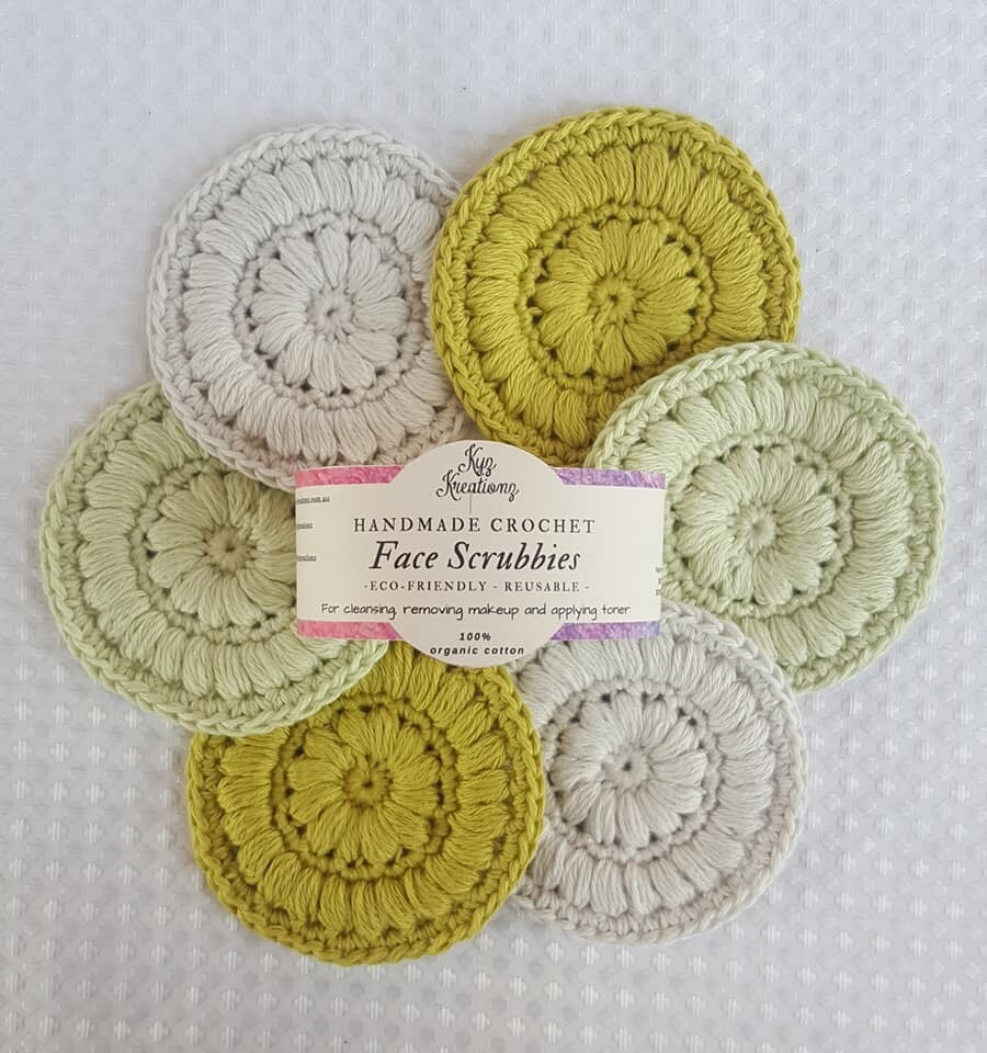 Made to Order | Crochet Face Scrubbies (pack of 6) - Avocado Smash
