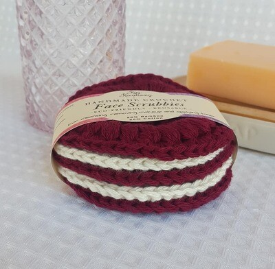 Made to Order | Face Scrubbies (pack of 5) - Ruby Ice