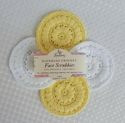 Made to Order | Crochet Face Scrubbies (pack of 4) - Lemon Ice