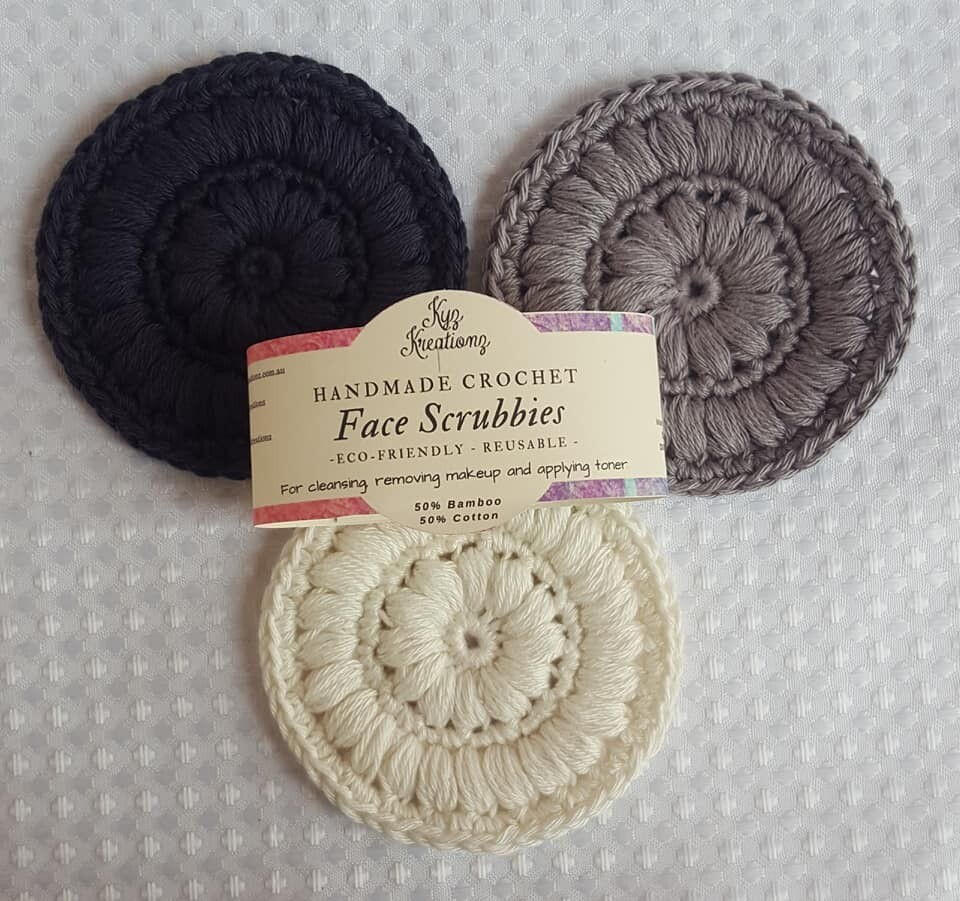 Made to Order   Face Scrubbies (pack of 3) - Midnight Magic
