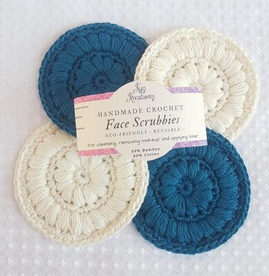 Made to Order | Face Scrubbies (pack of 4) -Blueberry Cheesecake