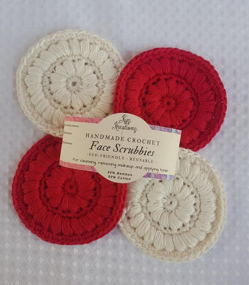 Made to Order   Face Scrubbies (pack of 4) - Candy Cane