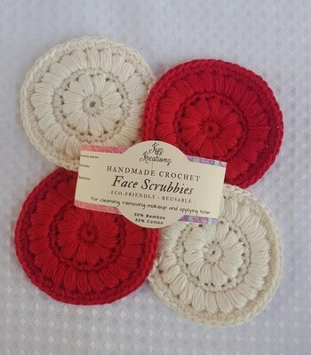 Made to Order | Face Scrubbies (pack of 4) - Candy Cane