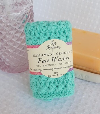 Made to Order | Crochet Face Washer - Bright Ocean