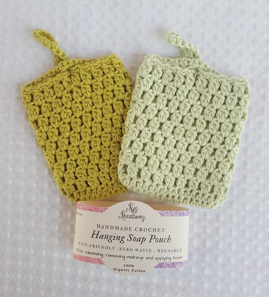 Made to Order   Crochet Soap Pouch (pack of 2) - Sapling & Sweet Apple