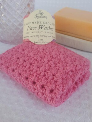 Made to Order | Crochet Face Washer - Apple Blossom