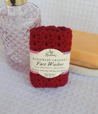 Made to Order | Crochet Face Washer - Majestic Red