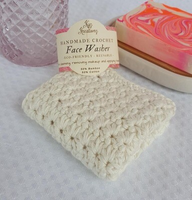 Made to Order | Crochet Face Washer - Rich Cream