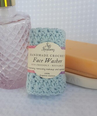 Made to Order | Crochet Face Washer - Soft Sky