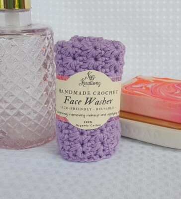 Made to Order | Crochet Face Washer - Lavender