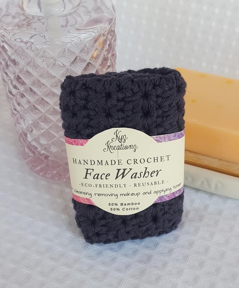 Made to Order |  Crochet Face Washer - Smoky Diamond