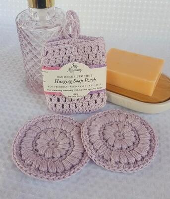 Made to Order | Crochet Soap Pouch & Scrubbie Set - Lavender Haze