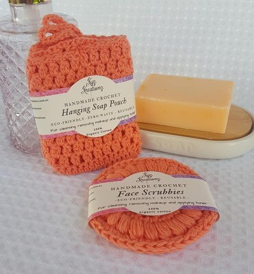 Made to Order | Crochet Soap Pouch & Scrubbie Set - Desert Bloom