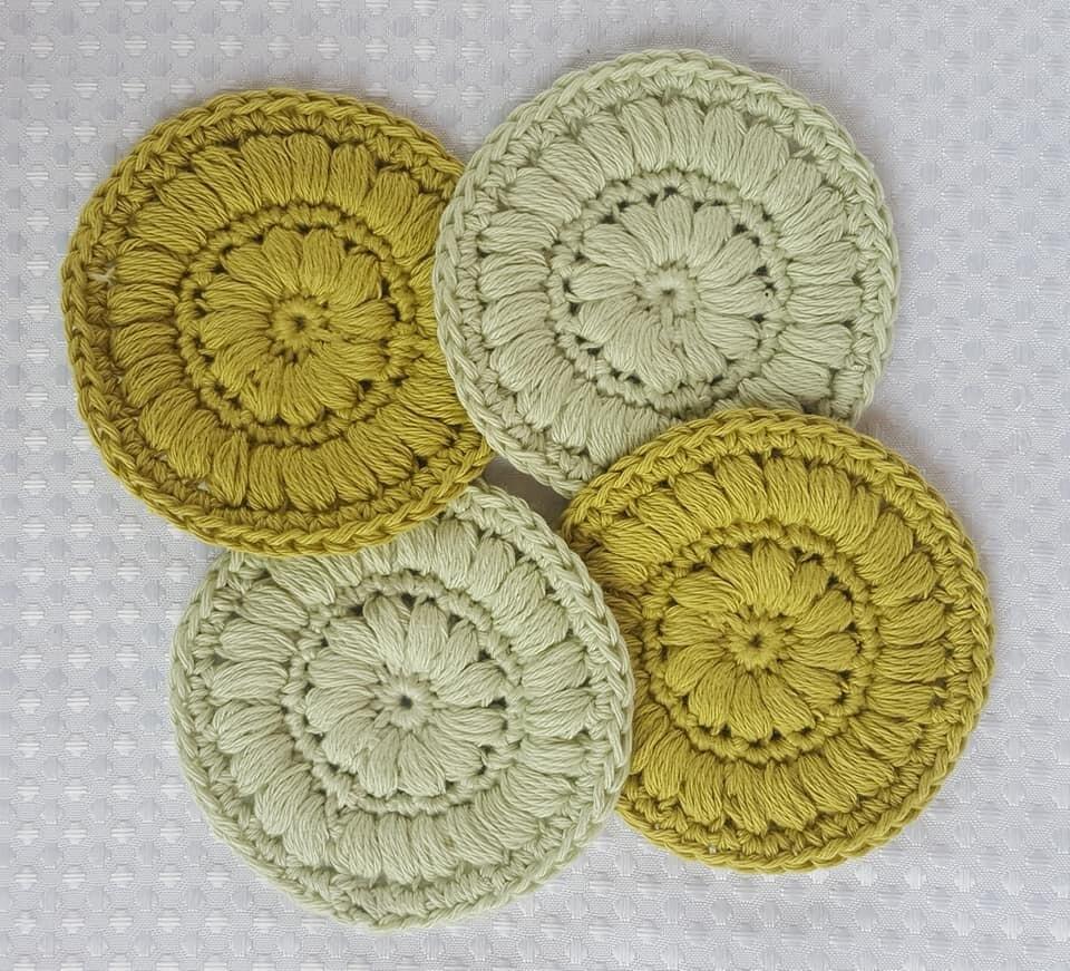 Crochet Face Scrubbies (pack of 4) - Pistachio Puff