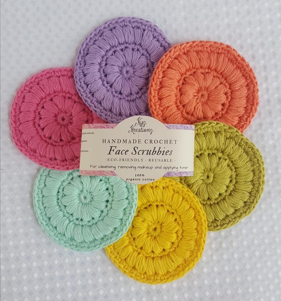 Crochet Face Scrubbies (pack of 6) - Summer Splash