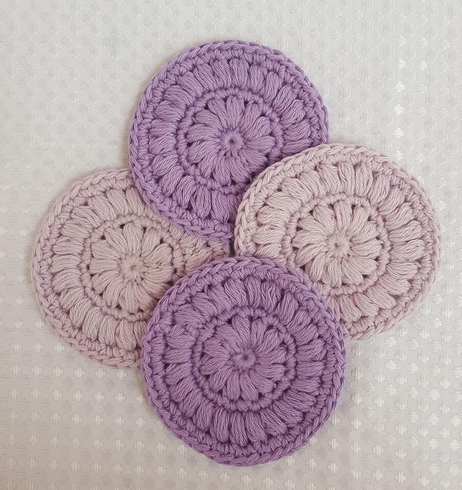 Made to Order | Crochet Face Scrubbies (pack of 4) - Lavender & Lavender Haze