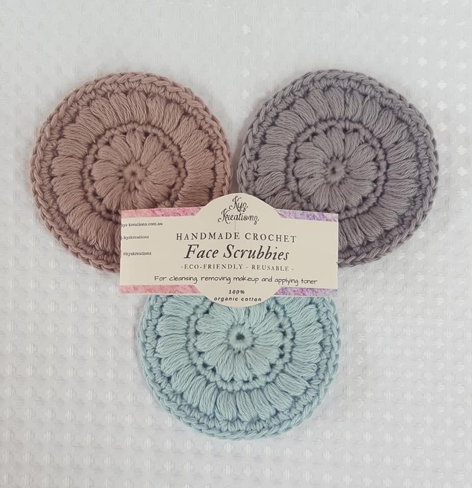 Crochet Face Scrubbies (pack of 3) - Woodland Wonder
