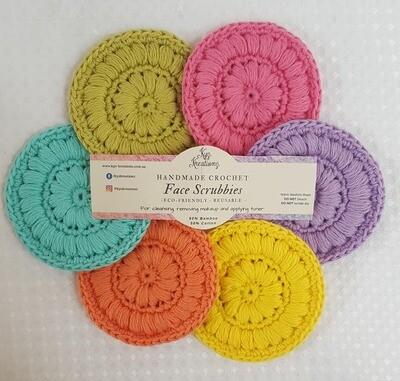 Crochet Face Scrubbies (pack of 6) - Summer Splash II