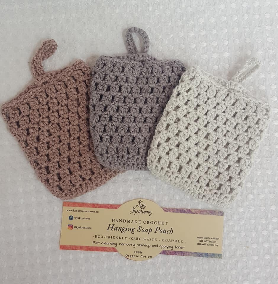 Made to Order | Crochet Soap Pouch (pack of 3) - Hazelnut Swirl