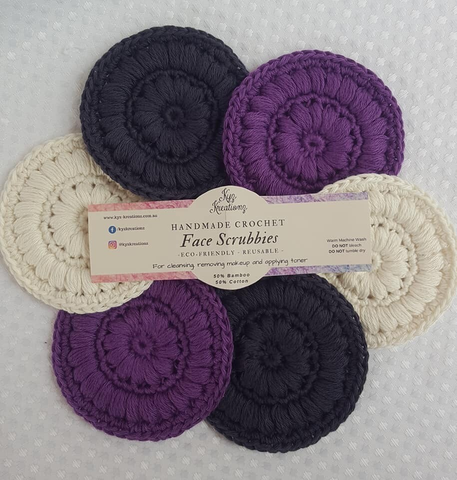 Made to Order   Face Scrubbies (pack of 6) - Purple Haze